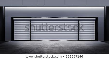 Photo stock: Modern Closed Garage At Night