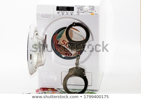 mosógép · vektor · valósághű · fehér · mos · illusztráció - stock fotó © swillskill