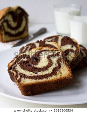 Chocolate Vanilla Marble Cake Stock photo © Digifoodstock
