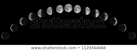 Moon in waning crescent phase on a black background Stock photo © Noedelhap