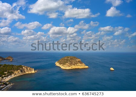 Morze Śródziemne morza antena la punkt plaży Zdjęcia stock © lunamarina