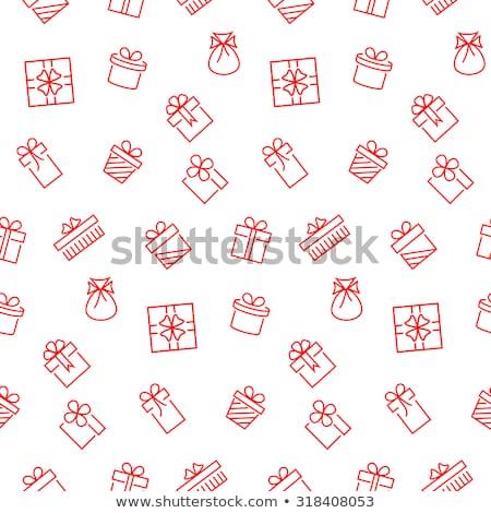 Végtelen minta ajándékdobozok végtelenített vektoros minta papír születésnap Stock fotó © balasoiu