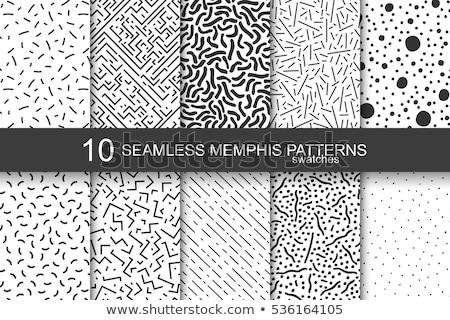 vector set of monochrome retro seamless patterns stock photo © blue-pen