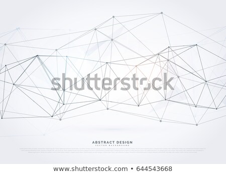 Digitale netwerk wireframe vector abstract medische Stockfoto © SArts