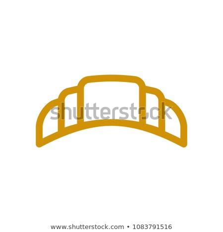 croissant · rollen · geïsoleerd · witte - stockfoto © popaukropa
