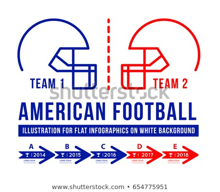 American football is the history of meetings. Stock photo © m_pavlov