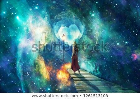 Cósmico andar menino caminhada relaxar humor Foto stock © psychoshadow