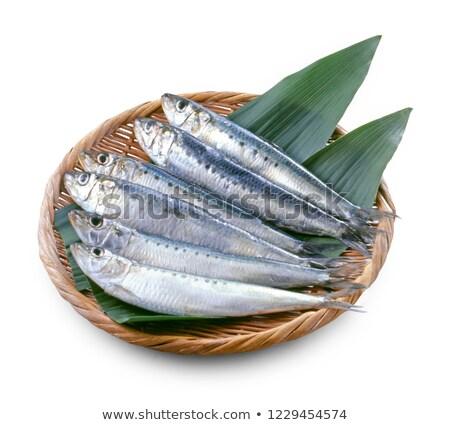raw sardine with ingredients Stock photo © M-studio