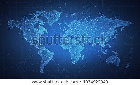 bitcoins currency concept design with world map Stock photo © SArts