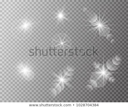 circular golden light transparent lens flare effect stock photo © sarts