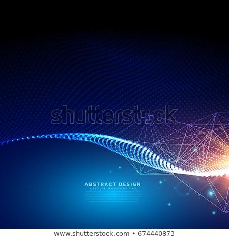 Tecnologia ondulado partículas projeto ciência Foto stock © SArts
