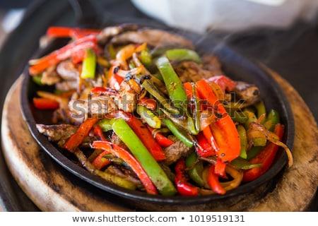Pão jantar tomates refeição ingrediente abacate Foto stock © M-studio