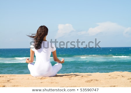 вид сзади песок пляж небе Сток-фото © wavebreak_media