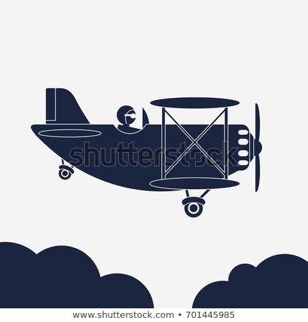実例 飛行機 アイコン 航空機 空 ベクトル ストックフォト © Andrei_
