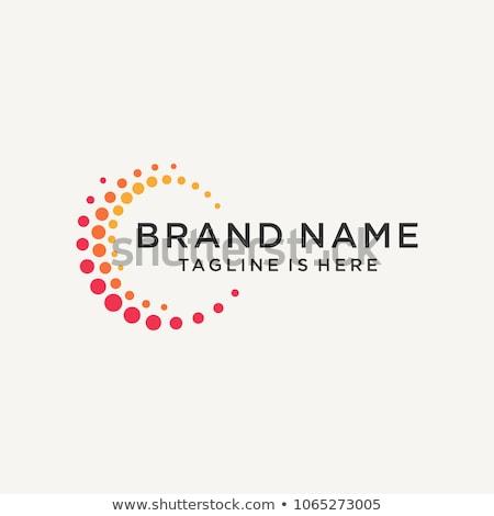 Absztrakt kör logoterv sablon üzlet felirat Stock fotó © SArts