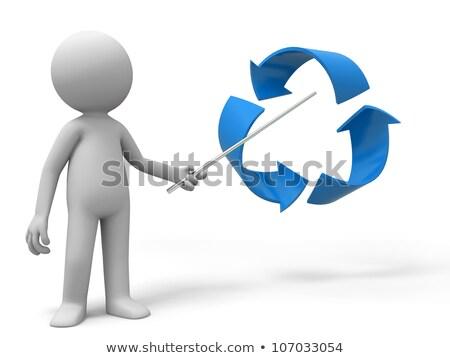 3次元の男 · リーダーシップ · 緑 · スタンド · ビジネスマン · 男性 - ストックフォト © texelart