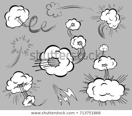 desenho · animado · átomo · bomba · projeto · arte · retro - foto stock © pikepicture