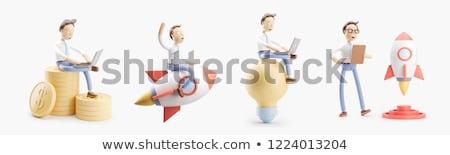 Stockfoto: Creatieve · business · ideeën · 3d · illustration · zakhorloge · tekst