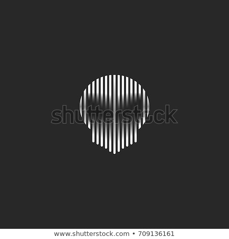 Alien skull isolated. UFO head skeleton. Vector illustration Stock photo © MaryValery