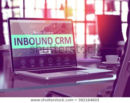 ノートパソコン 画面 crm 現代 職場 ストックフォト © tashatuvango