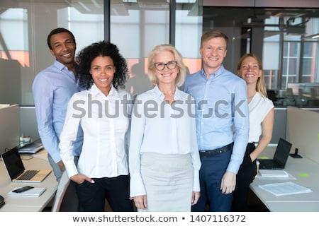 Portret wraz działalności kobieta biuro Zdjęcia stock © IS2