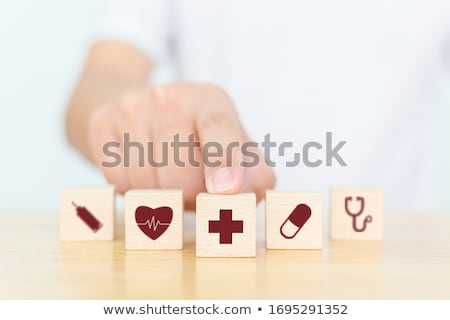 afgedrukt · diagnose · groene · wazig · tekst · pillen - stockfoto © tashatuvango