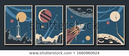 űr rakéta retro űrhajó izolált fehér Stock fotó © konturvid