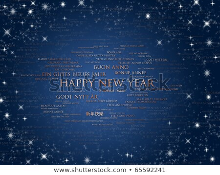 happy new year card from all the world stock photo © daboost
