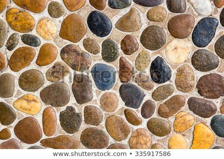 Background of Colorful Cobblestones Stock photo © zhekos