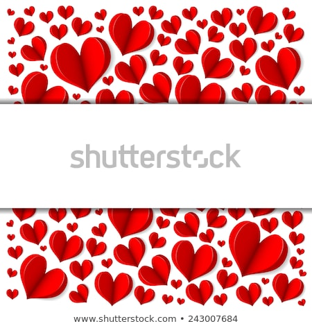happy valentines day border cardboard background stock photo © adamson