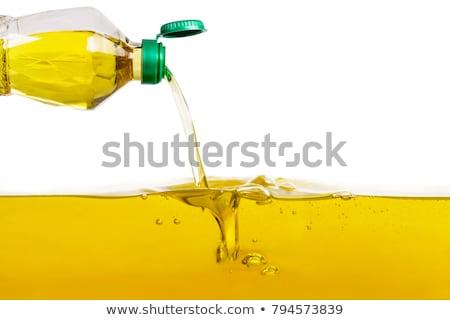 Oleju wody szkła zielone niebezpieczeństwo Zdjęcia stock © IS2