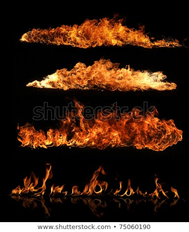 a detailed fire explosion on black background Stock photo © magann