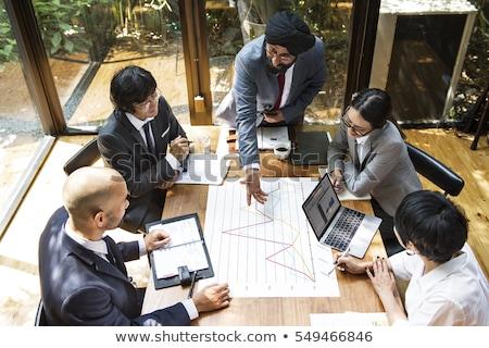üzleti · megbeszélés · indiai · üzletemberek · iroda · vállalati · üzletemberek - stock fotó © studioworkstock