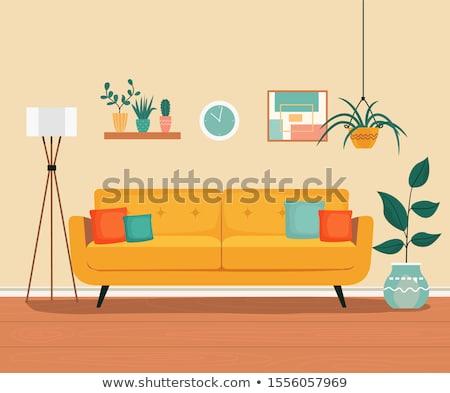 woonkamer · meubels · gezellig · interieur · stijl · vector - stockfoto © robuart