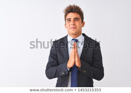 Stockfoto: Man Businessman Asks For Forgiveness