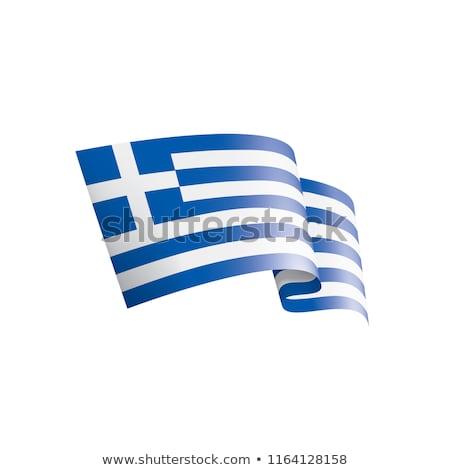 Grecja banderą odizolowany grecki wstążka banner Zdjęcia stock © popaukropa