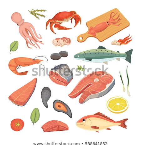 set of raw food Stock photo © M-studio