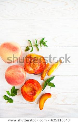 fresh peach and mint Stock photo © M-studio