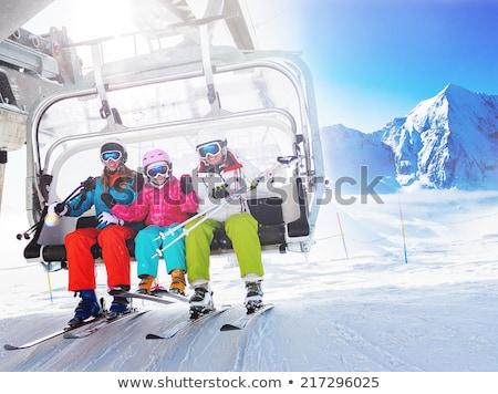 girl on ski lift Stock photo © adrenalina
