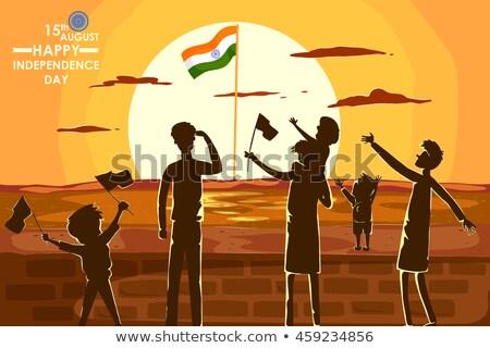индийской · иллюстрация · аннотация · триколор · фон - Сток-фото © vectomart