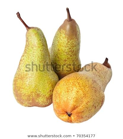 Tre maturo pere bianco frutta dessert Foto d'archivio © Digifoodstock