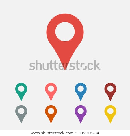 Map pointer single icon. Stock photo © smoki