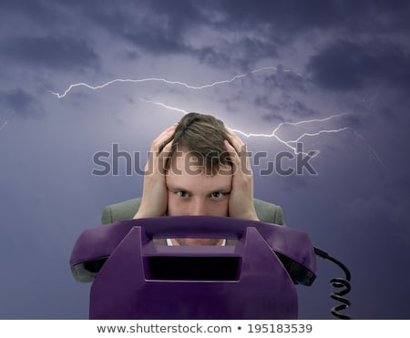businessman expecting important call on phone stock photo © elnur