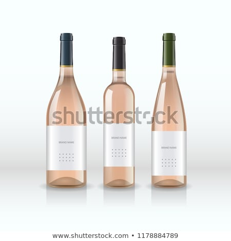 Drink Wine Poster Bottle of White Wine and Glass Stock photo © robuart