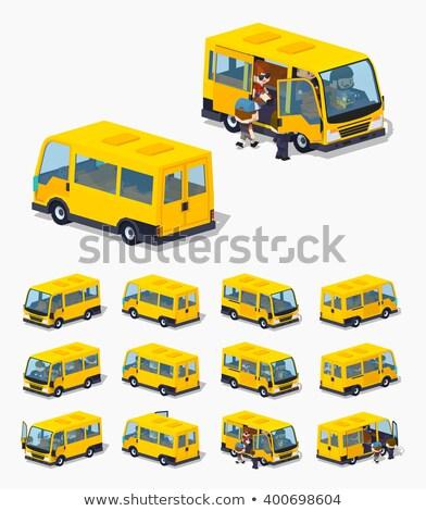 Vetor isométrica comercial veículo diferente Foto stock © tashatuvango
