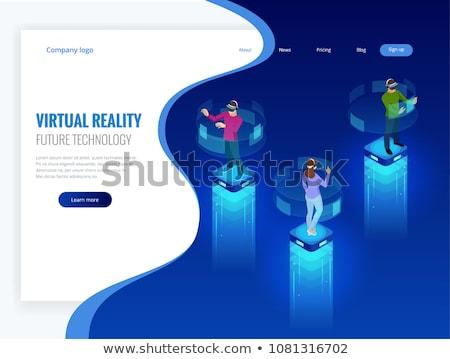 Virtuális valóság pénz nők vásárlás pénzügy Stock fotó © toyotoyo