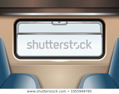 window in the train compartment vector illustration stock photo © konturvid