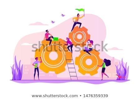 Toegewijd team werken een software ontwikkeling Stockfoto © RAStudio