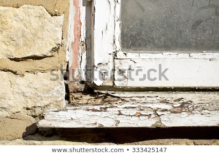 Ablak keret rossz állapot illusztráció fa Stock fotó © colematt
