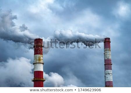 Nagy gyár sötét felhők üzlet égbolt Stock fotó © serg64